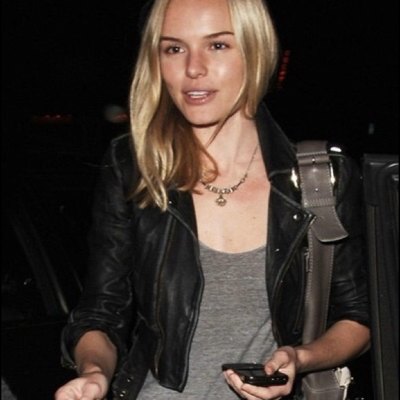 9ce35aa93 Kate Moss Topshop Cropped Moto Leather Jacket